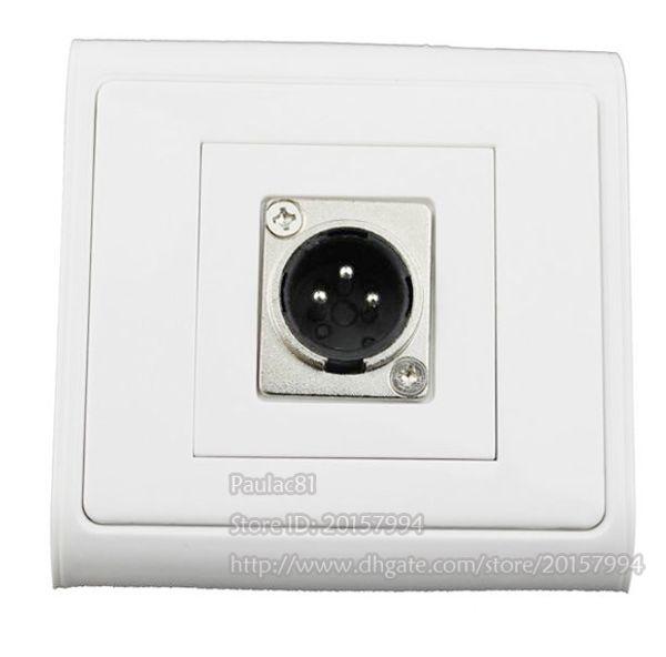 Haute Qualité Canon Module Single-Port Panneau Microphone XLR 3Pin Mâle Prise Panneau Panneau Pour Plaque Murale / Livraison Gratuite / 1 PCS