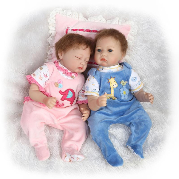 22 so truly real soft reborn baby twins dolls set reborn boy doll and sleeping