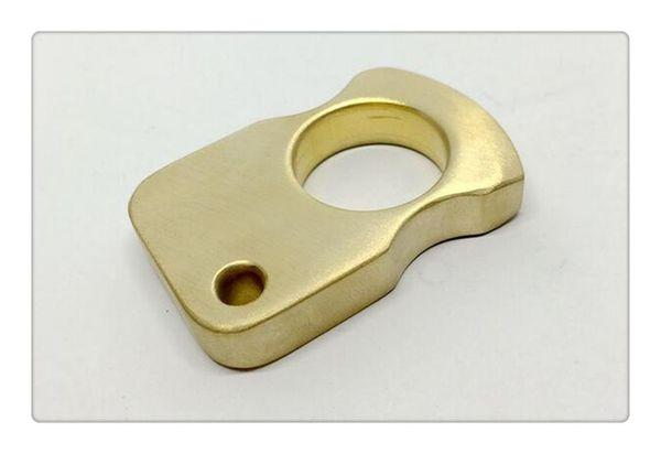 Yeni Titanyum TC4 Kaplan parmak / Knuckle Duster / Yumruk EDC Kişisel Savunma Yüzük / Anahtar Aksesuar CNC İşlenmiş Stonewash Yüzey ...