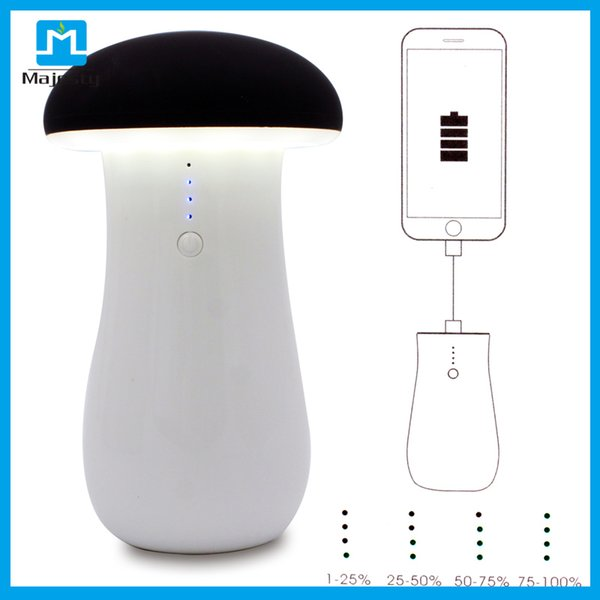 Magic Multi-function Mushroom LED light Table Lamp USB Rechargeable Fashion Power Bank Night Light for iPhone Samsung Mobile Phone
