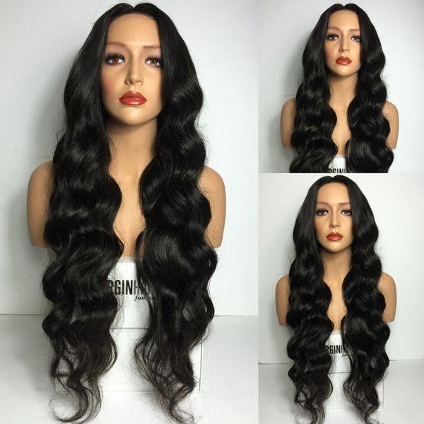 8A Grade volle Dichte Jungfrau brasilianische Menschenhaarperücken volle Spitze Perücke in natürlichen Baby Haar Haaransatz Lace Front Perücke glueless Perücke