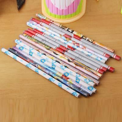 50 pcs/lot Cute Cartoon Standard Pencil for Kids Gift School Office Supplies Free Shipping Children Drawing Painting Pencils Papelaria