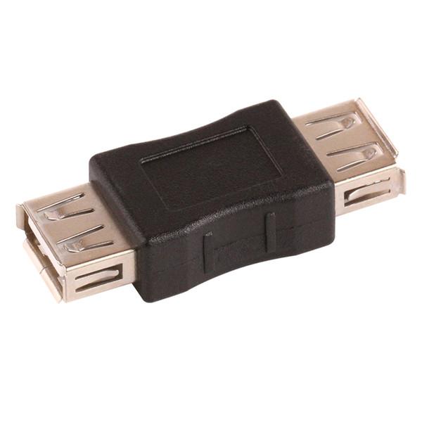 Wholesale 100pcs/Lot Mini USB 2.0 Female A to USB 2.0 Female B Adapter Connector