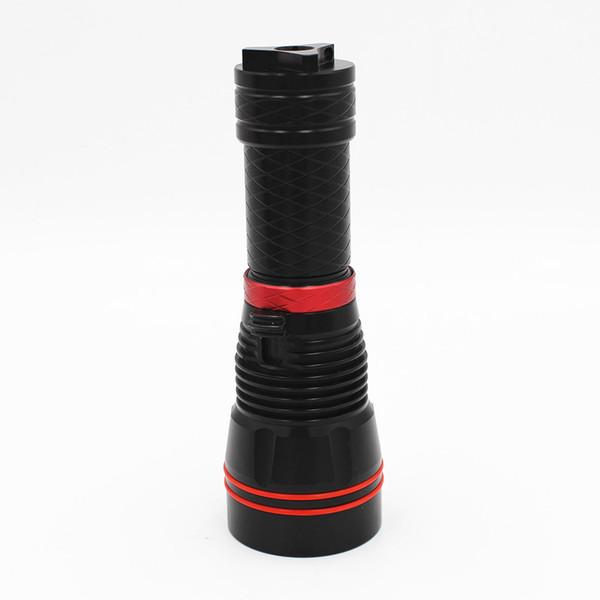 KC Fire 1300 Lumens High Power Diving Flashlight CREE XM-L LED Diving Light 100M Waterproof Dive Torch Lamp DL0002