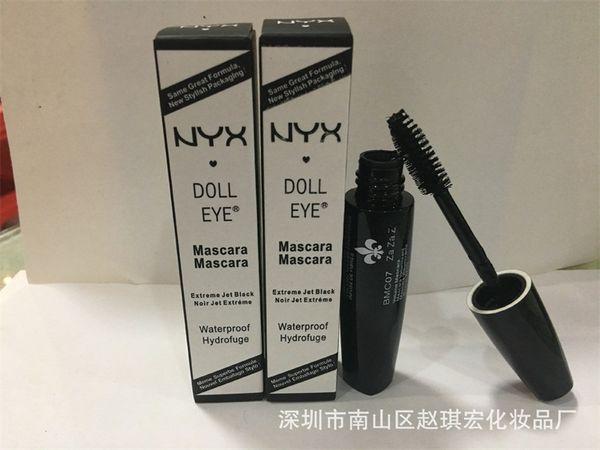 b79f4380ee8 Makeup NYX Doll Eye Mascara Extreme Jet Black Noir Jet Extreme Waterproof  Hydrofuge Curls Eyelashes Brand