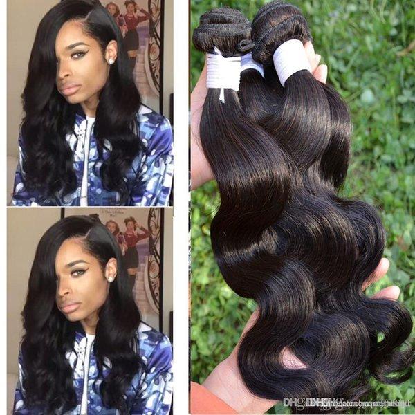 Queen Hair Products Brazilian Body Wave Brazillian Human Hair Brizilian Virgin Hair Mocha Hair Company Ali Queen Weave Beauty 3,4,5pcs/lot