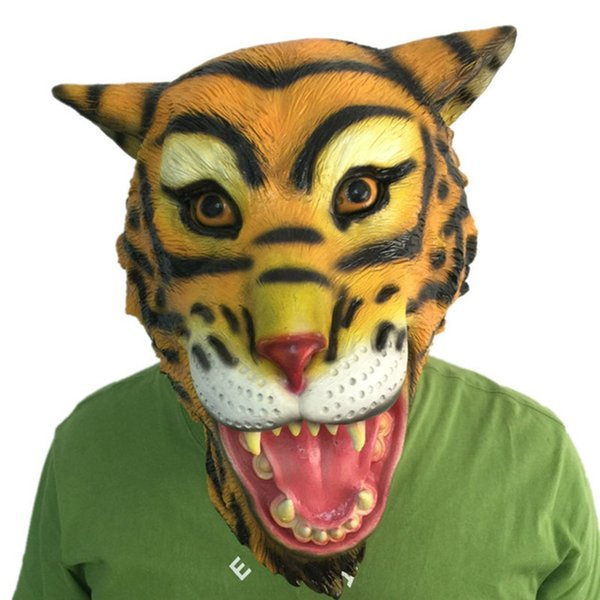 Horror Tiger Latex Mask Full Face Halloween Animal Head Rubber Masks Mythology Fancy Prop Costume Party  sc 1 st  DHgate.com : tiger head costume  - Germanpascual.Com