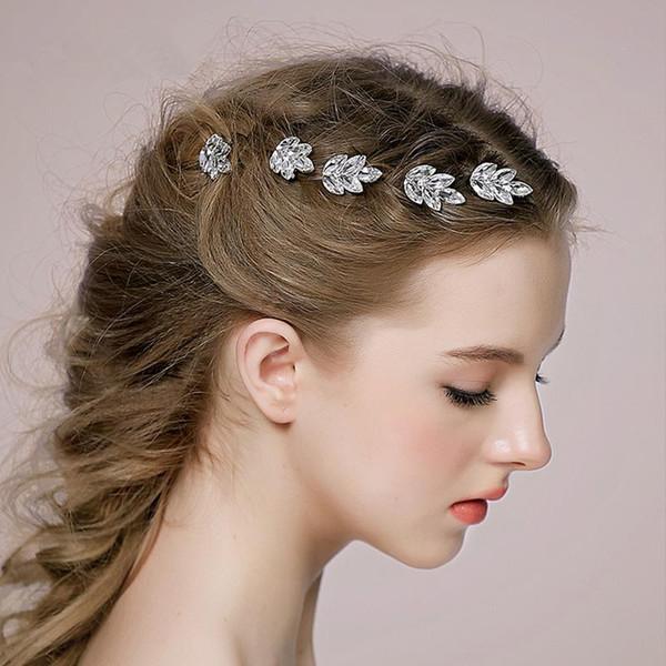 Sweet Rhinestone Hair Pins Clear Crystal Baby Pins Cheap Silver Clips U Shape Hair Accessories Cheap Bridal Accessories Free Shipping