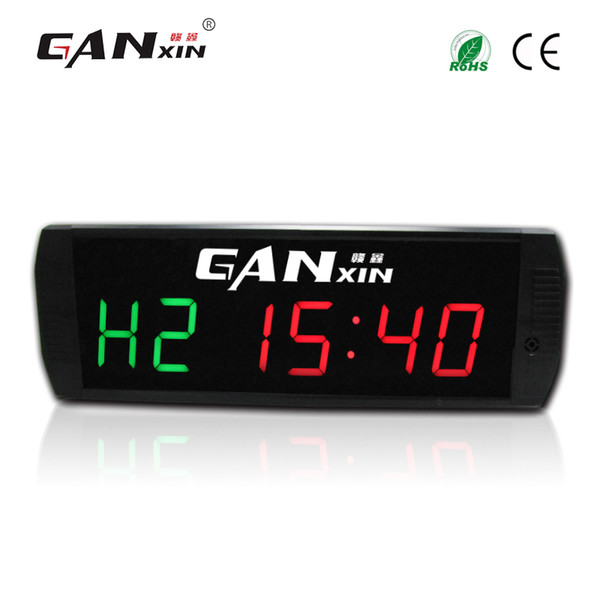 [GANXIN]3 inch Gym Fitness Timer Cross Fit Interval Training Electric Timer with IR Remote Control