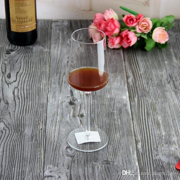 High stem lead-free crystal glass red wine glass