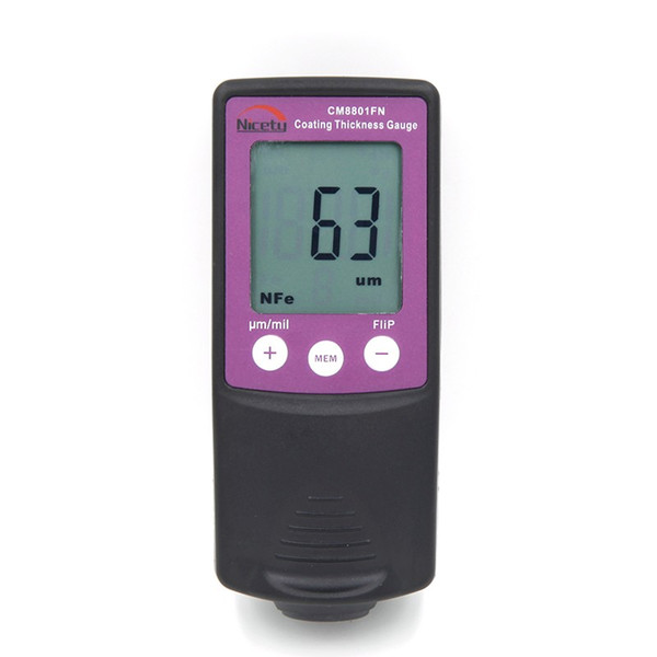 Wholesale-Retail Package Free Shipping New Digital FILM Coating Thickness Gauge Paint Meter Tester CM8801FN 0-1250um 50mil F/NF 2 in 1 LCD