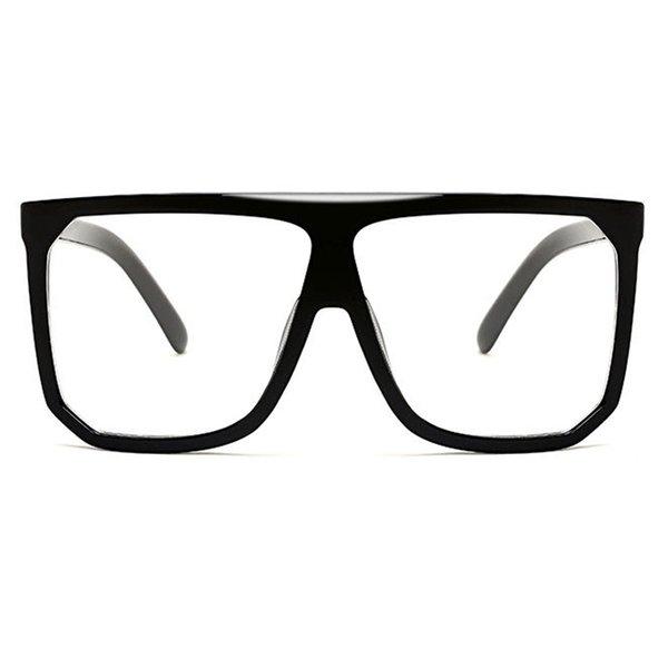 C7 Glossy Black Frame Clear Lens