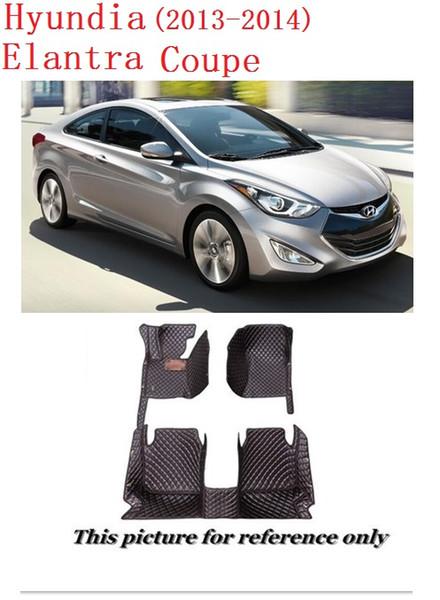 Tapis de sol en cuir tout temps SCOT pour Hyundai Elantra Coupe antidérapant imperméable à l'avant moquette arrière ajustement personnalisé gauche, modèle de conduite