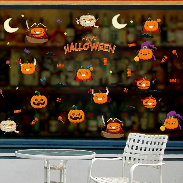 Pumpkin Party Wall Halloween Decal Sticker Home Decor Diy Removable Art Vinyl Mural For Wall Glass Qtm398 4 Decorating With Wall Decals Decoration