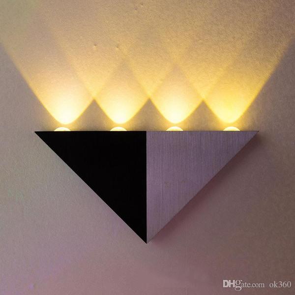 4w triangle led wall light sconces mirror lamp backlight decorative llight led corridor light epistar energy