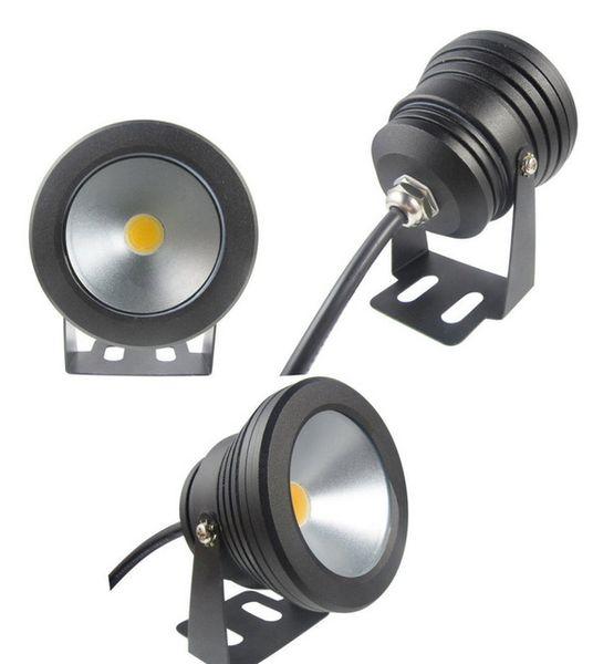 10pcs En plein air de couleur noire Case 10W sous-marine LED piscine lavage wash Piscine étanche Spot Light Lamp 12 V Whoelsale