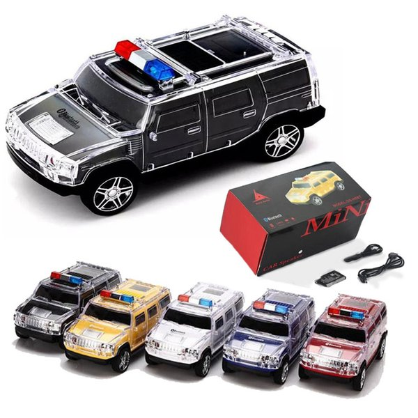 Online Cheap Mini Police Car Wireless Bluetooth Speaker Led Light Subwoofer  Support Tf Cards Pc Tablet For Any Cellphone By Chinafactory01 |