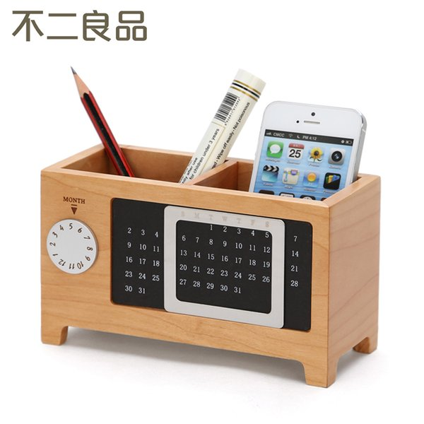 Nice Wholesale Wooden Pen Creative Fashion Office Supplies Stationery Desk Box  Wood Cute Ornaments Office Accessories