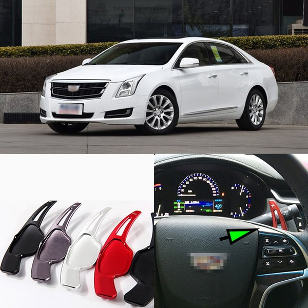 Free shipping 2pcs Brand New Alloy Add-On Steering Wheel Aluminum Shift Paddle Shifter Extension For Cadillac XTS