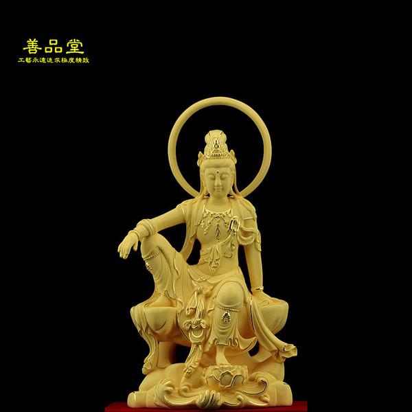 Velluto sabbia Jinguanyin statua placcata in oro di Bodhisattva Avalokitesvara venerare la decorazione soggiorno artigianato ornamenti di luna
