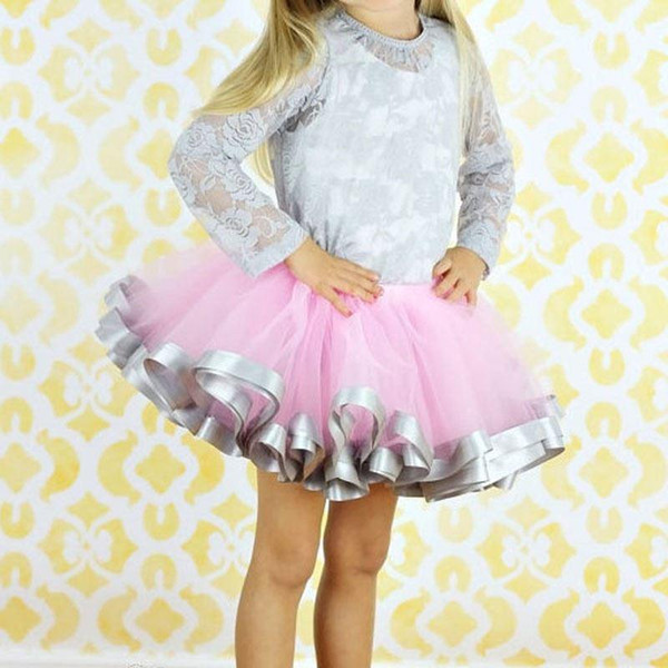 Fluffy Pettiskirts Baby tutu skirts girls Princess Dance Party Tulle Skirt petticoat wholesale