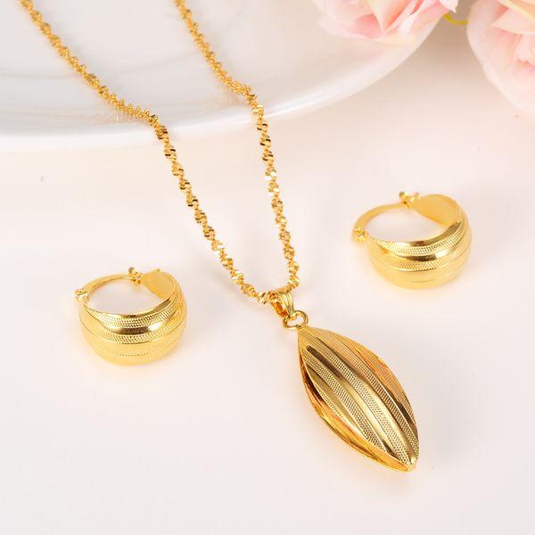 afrikanische Habesha Set Äthiopien Stil Halskette / Ohrringe / Ring / Bangle Gold Farbe Dubai Schmuck / Sudan Hochzeitsgeschenk
