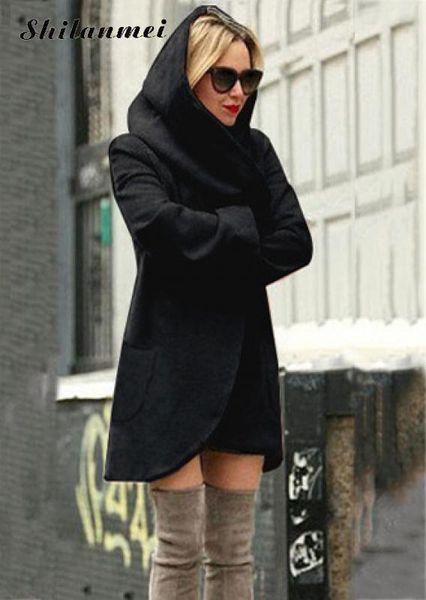 Wholesale- 2017 women winter autumn jacket long women coat slim suit collar long style soild woolen coat female jacket