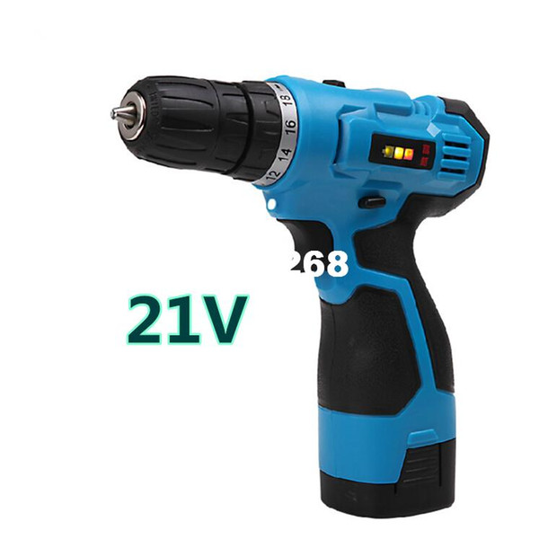 best selling 21V two speed Rechargeable charge Cordless electric drill hammer household electric screwdriver power tools sets free shipping