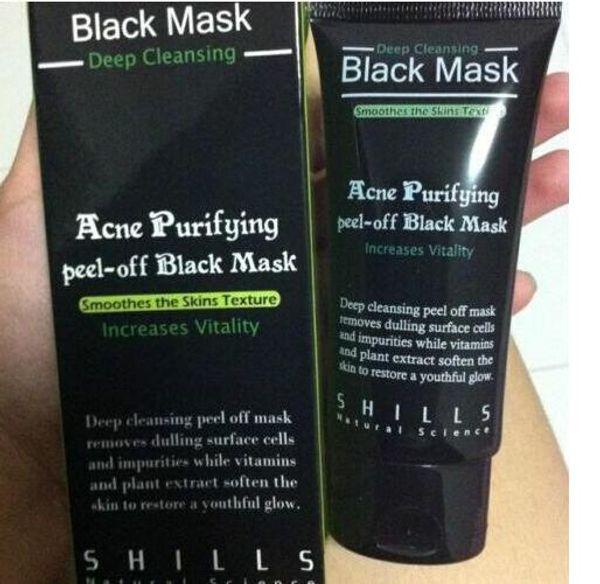 top popular lady SHILLS Deep Cleansing Black MASK 50ML Blackhead Facial Mask wholesale fast ship 2019 New batch 2021