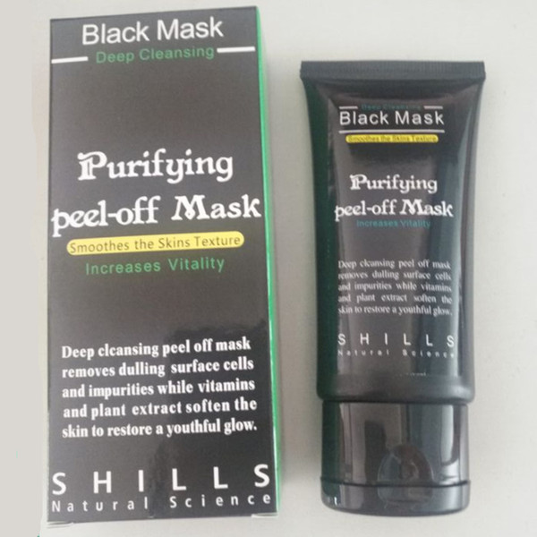 Shills Deep Cleansing Black Face Mask Mud Purifying Peel Off Blackhead Removal Remover Pore Cleaner Facial Mask 50ml