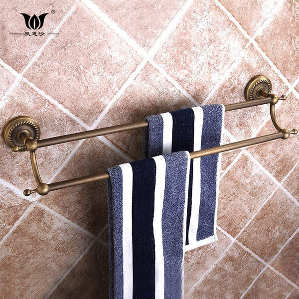 Sail Ensha European brass towel rack bathroom accessories rack towel towel bar double bar towel rack 160313#