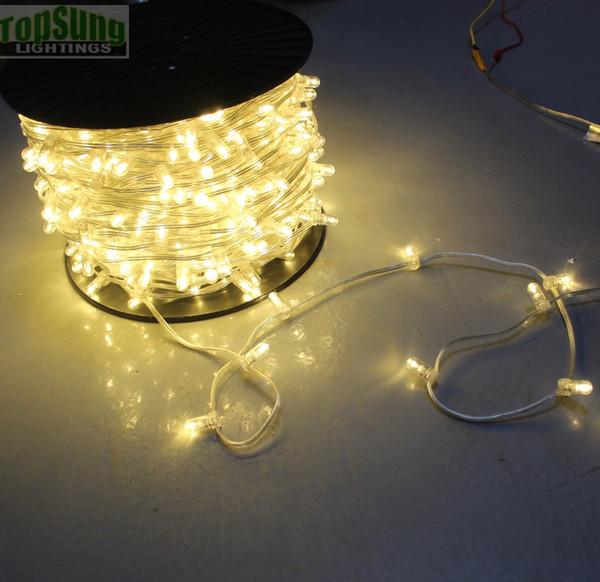 100 m carretel 12 V natal levou corda de árvore luz clipe de cristal luzes 666 lâmpadas cuttable para festa de casamento decoração do jardim