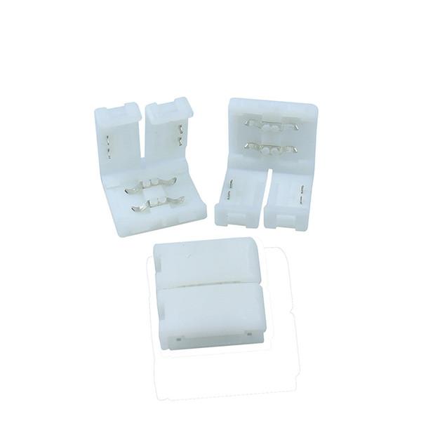 20 teile / los 10mm Streifen zu Streifen PCB 2 pin Stecker adapter box für 5050 Einfarbige LED Streifen Kein Schweißen Einfach zu installieren