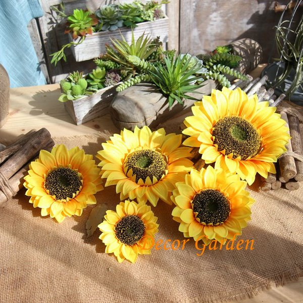 Yellow flower types coupons promo codes deals 2018 get cheap various types sunflower head artificial flowers simulation flower head wedding decoration bouquet foam festivel decorations mw33221 mightylinksfo