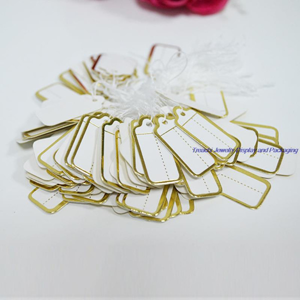 top popular Free Shipping Bulk Price Fashion Goldern Slivary 1000 Pcs Jewelry Strung Pricing Price Tags with String Silver 2021