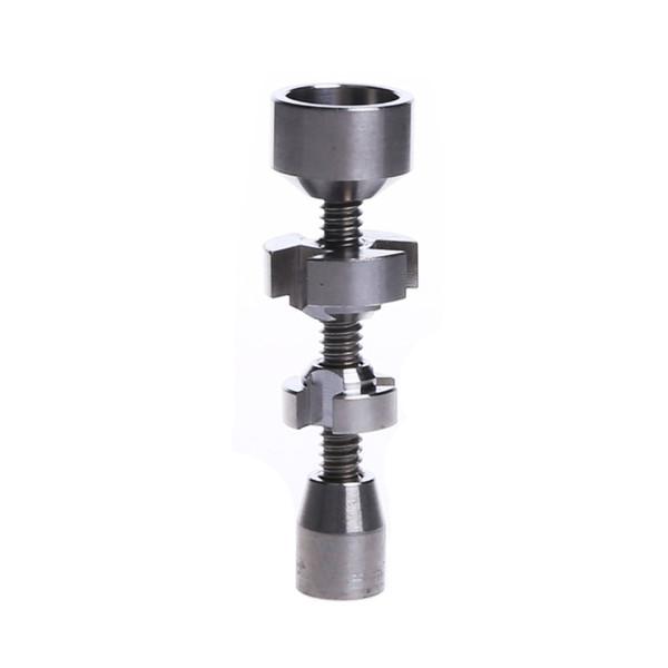 Smoking Dogo 2018 Titanium Nails Male Adjustable 14mm and 18mm Titanium Nail Domeless Dab Rig Titanium Nails Set TN-052