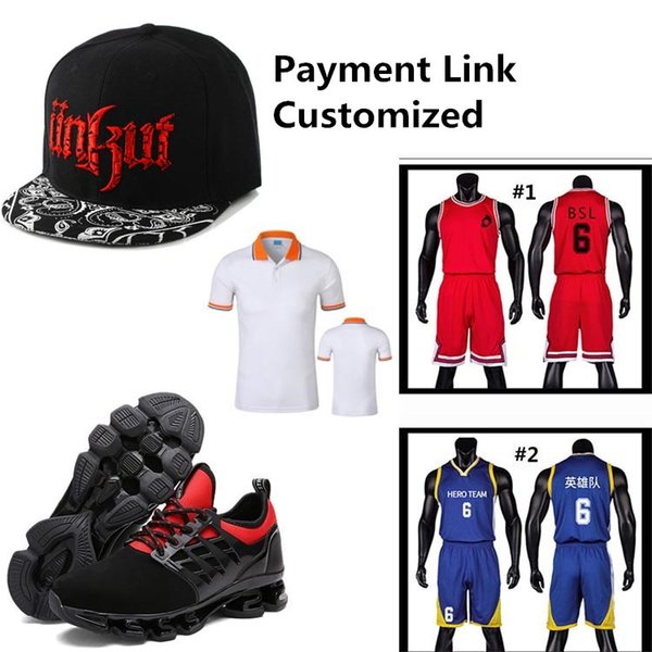 Link di pagamento per Outdoor Sport Item, Basket Calcio Calcio Baseball Jersey Pantaloni Cappelli Scarpe Mix Ordine, spese di spedizione, sconto