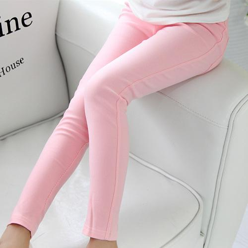 2016 spring and summer children's clothing Korean children candy colored pencil wholesale girls Leggings kids