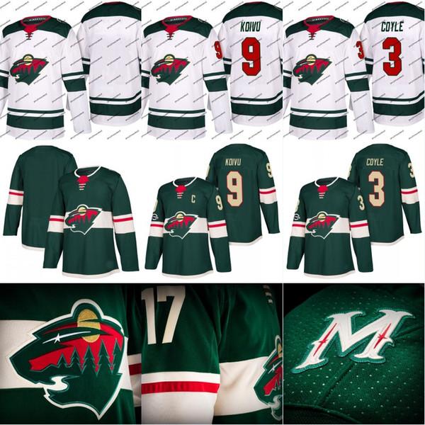 Minnesota Wild Jersey 3 Charlie Coyle 4 Mike Reilly 6 Ryan Murphy 9 Mikko Koivu Custom Hockey Jerseys White Green Free Shipping