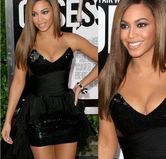 Großhandel Beyonce Sexy Schwarze Mini Kurze Prom Kleider 2017 ...