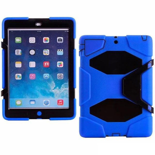 Robot Cover For iPad Air/5 Tablet Military Extreme Heavy Duty Shockproof CASE With Kickstand Stand Cover DHL Free Shipping 11 Colors