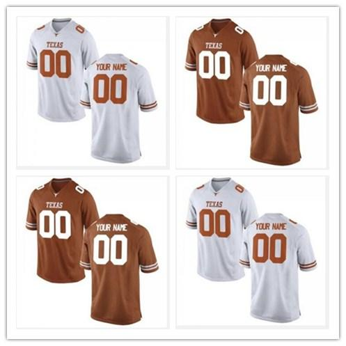 best sneakers ec2fd 53fc9 2018 Cheap Custom Texas Longhorns College Football Jersey Men Women Youth  Personalized Any Name Number Stitched Orange White Jerseys Xs 5xl From ...