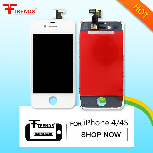 for iPhone 4/4 CDMA/4S LCD Display & Touch Screen Digitizer Full Assembly OEM Black White LCD Screen 100% Test Free Shipping