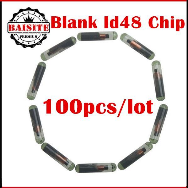 Free dhl 100pcs/lot vw id 48 chip transponder CHIP ID-48 BLANK GLASS TRANSPONDER CHIP KEY CAR LLAVE for VW AUDI FIAT CRYPTO