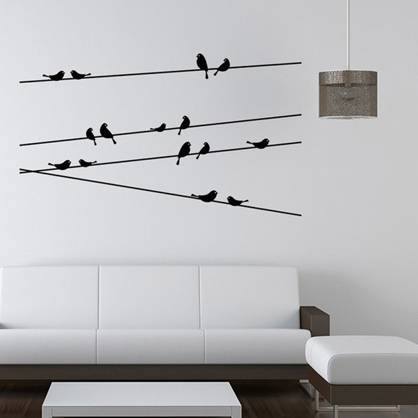 Branch Black Bird Art Wall Stickers Removable Vinyl Decal Home for kids room Christmas party decoration kitchen refrigerator