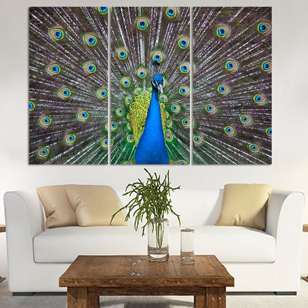Classic luxury Art Deco painting canvas modern canvas picture peacock painting home decoration bedroom framed canvas painting(no frame )