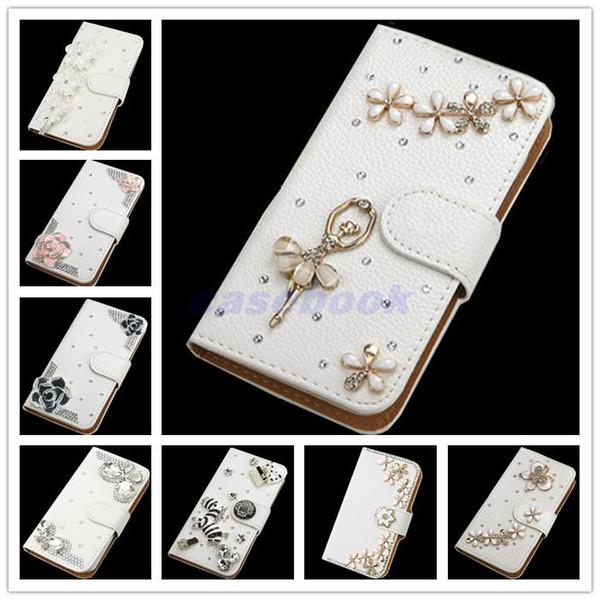 Per Galaxy S7 NUOVA moda Crystal Bow Bling Tower 3D Diamond Glitter Portafoglio in pelle Custodie Cover per Samsung Galaxy S7 Case