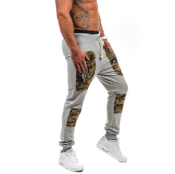 Pantaloni Harem da uomo Casual Cotone Hip Hop Camouflage Patchwork Pantaloni Tasche con cerniera Pantaloni chino Jogger Pantaloni sportivi Polsino elastico Plus Size