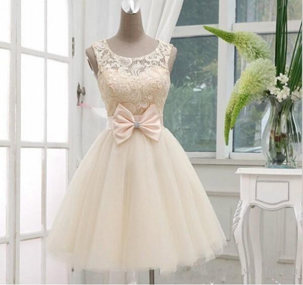 Cheap 2016 Short Knee Length Bridesmaid Dresses A Line Light ...