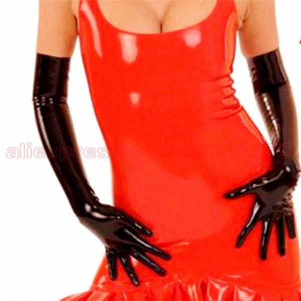Großhandels-reizvolle Latex-Kostüm-lange Unisexhandschuhe-starke männliche Latex-Verein-Abnutzung fertigte LA003 besonders an